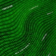 A distorted field of green binary code. - Stock Photo