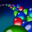 A flow of translucent red, green & blue orb droplets — Stock Photo #5076235