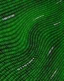A distorted field of green binary code. — Stock Photo