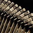 Close-up of old typewriter letter and symbol keys — Stock Photo #5145549