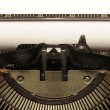 Stock Photo: Closeup of old typewriter