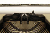Closeup of old typewriter — Foto Stock