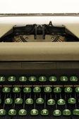 Closeup of old typewrite circa 1950s — Stock Photo