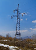Tower of a high-voltage electric main — 图库照片