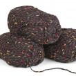Three clews of wool yarn - Stock Photo