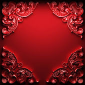 Red abstract ornament — Stock Photo