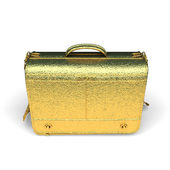 Isolated golden Business briefcase — Stock Photo