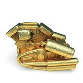 Isolated golden motor — Stock Photo