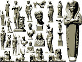 Great vector set of ancient statues — Stock Vector