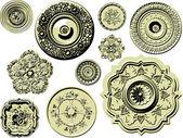 Vector set di elementi di design vintage — Vettoriale Stock