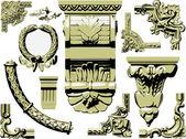 Vector set of vintage design elements — Stock Vector