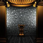 Bronze columns and pedestal — Stock Photo