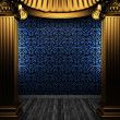 Bronze columns and tile wall - Stock Photo