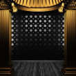 Bronze columns and tile wall — Stock Photo #4542962
