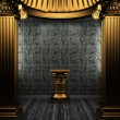 Bronze columns, pedestal and tile wall — Stock Photo #4545193