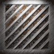 Royalty-Free Stock 矢量图片: Aluminum and rusty metal plate