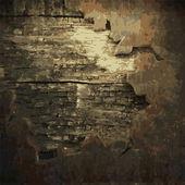 Rostig metall och trä plattan — Stockvektor