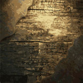 生锈的金属和木材板 — 图库矢量图片
