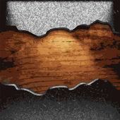 Iron plate on wood — Stock Vector