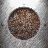 Aluminium en roestige metalen plaat — Stockvector