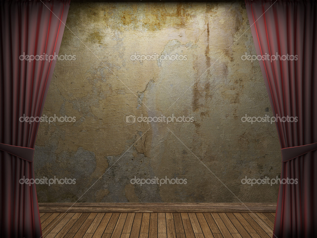Old concrete wall made in 3D graphics — Stock Photo #5371509