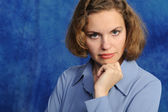 Portrait of the attractive woman — Stock Photo