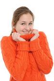 Kış genç kadın — Stok fotoğraf