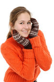 Winter young woman — Stock Photo