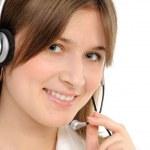 Female customer service representative — Stock Photo #4752430
