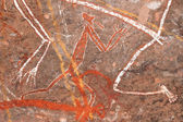 Aboriginal rock art — Foto Stock