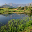 Stock Photo: Drakensberg mountains