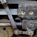 Steam locomotive coupling rods — Stock Photo