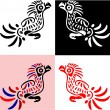 Vector birds in traditional american indians' style — Stock Vector