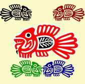 Ethnic fishes — Stock Vector