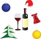 クリスマス デザインの要素のベクトルを設定 — ストックベクタ