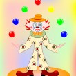 Royalty-Free Stock Vector Image: Vector funny clown with balls