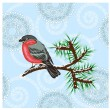 Royalty-Free Stock Vector Image: Vector bullfinch