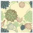 Royalty-Free Stock Imagem Vetorial: Vector seamless floral background with heart