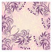 Tło z fioletowy ornament kwiatowy — Wektor stockowy