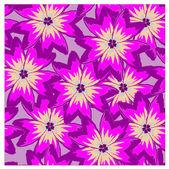 Sem costura de fundo vector com papoulas violetas — Vetorial Stock