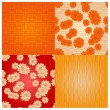 Vector seamless backgrounds with flowers - Stock vektor