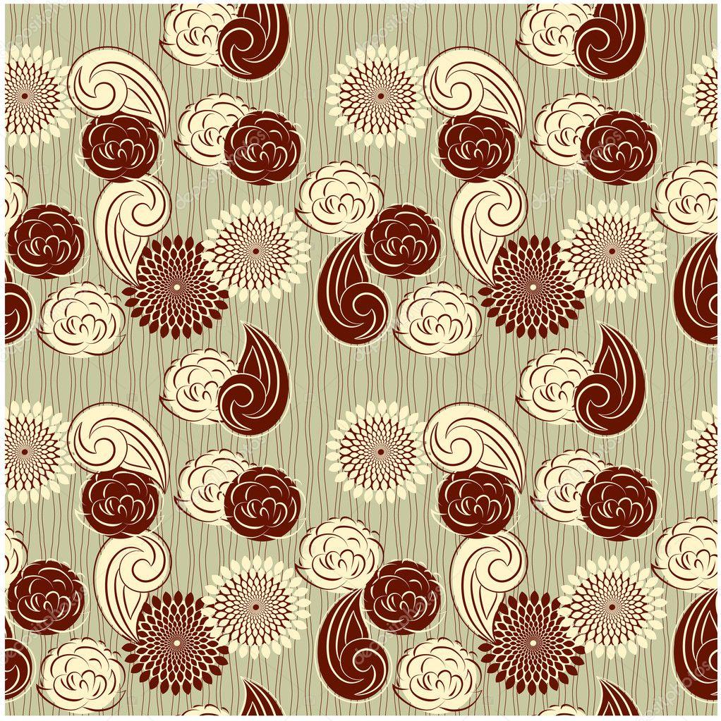 Seamless Vintage Flower Background For Design And Sbook Stock Vector 12812919