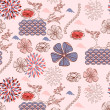Japanese style seamless spring floral pattern — Stock Vector #4855219
