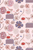Japanese style seamless spring floral pattern — Stock Vector