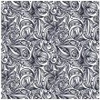 Seamless floral monochrome pattern — Stock Vector