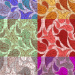 6 paisley backgrounds — Stock Vector