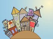 Concept medival town — Stock Vector