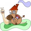 Royalty-Free Stock Vector Image: Snail-house
