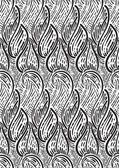 Seamless monochrome pattern with abstract leaves — Stock Vector
