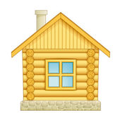 Log house icon — Stock Vector